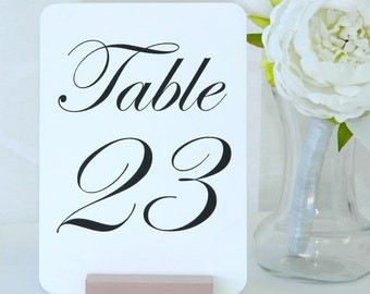 20% off ends 5pm Fri. Table Numbers - Rose Gold Wood Wedding Table Number Holders  (Set of 10)