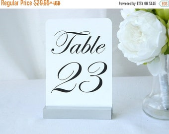 20% off ends 5pm today Table Number Holder + Silver Wedding Table Number Holder + Silver Table Number Holder