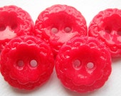 "Ready to Ship 6 3/4"" Vintage Cherry Red buttons"
