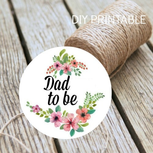 Baby Showers For Dads To Be ~ Baby shower dad to be instant download diy printable badge
