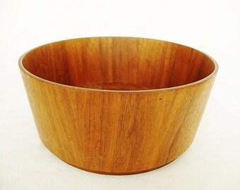 vintage teak wood bowl midcentury gladmark large salad bowl