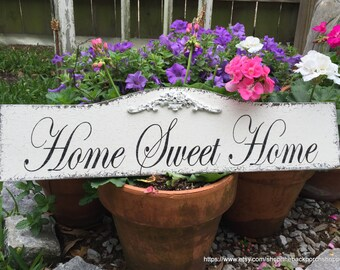 HOME SWEET HOME Sign, Family Sign, Wedding Sign, Wedding Gift, 7 x 24