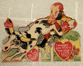 SALE VINTAGE VALENTINE 1930's Be My Valentine I Love You