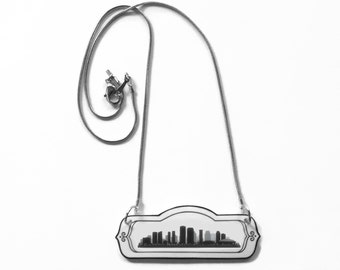 New Orleans LA Skyline Necklace Louisiana