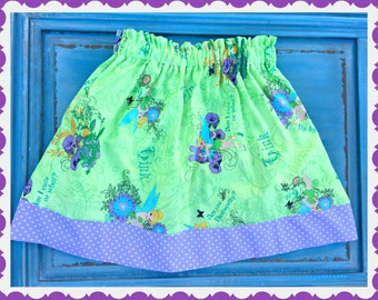 Girls Tinkerbell skirt 2t 3t 4t 4/5 6/6x 7/8 10/12 Ready to Ship