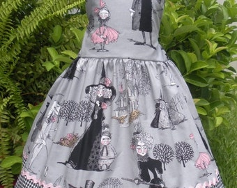 ON SALE Ready to Ship Custom Boutique RTS Halloween Ghastly Dress Girl Ghastlies 4 5 6