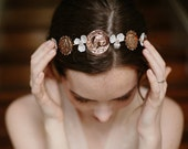 Roman coin headpiece, bridal hair band - Independent Spirit no. 2148