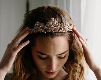 Bridal tiara, bridal crown, wedding hair accessory - Clementine no. 2164
