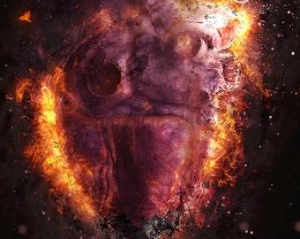 Heart's On Fire - 11x14 Fiery Romantic Fantasy Fine Art Print