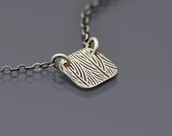 Grasslands Necklace, tiny sterling silver necklace, dainty necklace