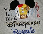 My 1st trip to Disney Embroidered Shirt Woody 2016
