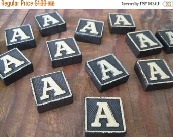 20%OFF SALE Vintage Wood Anagram Game Pieces, A Initial, Create your own word or saying, Word Art, Home Decor, Custom Order
