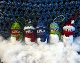 Crochet Snowman Ornaments