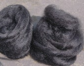 Black Hand Dyed Hand Combed Wensleydale Tops  50 grams