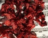 Hand dyed crinkle ribbon Aged Mahogany seam binding crinkly stained ribbon TeamHaha Hafair OFG ADO Nooga Norga Mha Ellijay