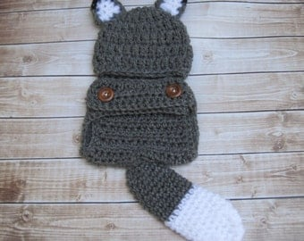 Baby Halloween Costume, Newborn Costume, Wolf Baby Costume, Infant Costume, Baby Halloween Hat, Infant Halloween Hat, Newborn Halloween Hat