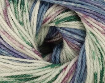 Spring Flowers Cascade Heritage Prints Yarn 437 yards Super Fine Wool Nylon Sock Yarn Color 27