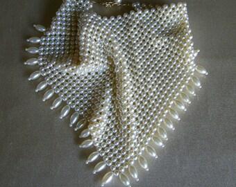Vintage Pearl Scarf