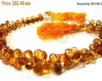 55% OFF SALE 1/2 Strand of Champagne Citrine Micro Faceted Drop Briolettes Size 6x4 -7x4mm