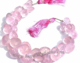 55% OFF SALE 1/2 Strand - Finest Quality Rose Quartz Micro Faceted Onion Briolettes Size 7 - 10 mm approx