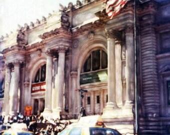 Museum of Modern Art  - Polaroid SX-70 Manipulation - 8x8 Fine Art Photograph, Wall Decor