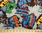 Boys Curtain Valance Custom Sewn From Marvel Fabric Comics Super Hero Spiderman Hulk Capt America Thor Iron Man Fabric NEW