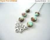 Gems Turquoise necklace with silver bubbles