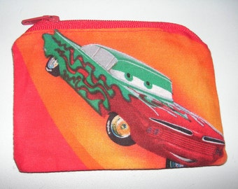 Disney Cars Ramone handmade zipper fabric coin change purse