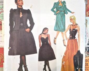Vintage 1980s Yves Saint Laurent Evening Dress and Jacket Pattern - Vogue 2407