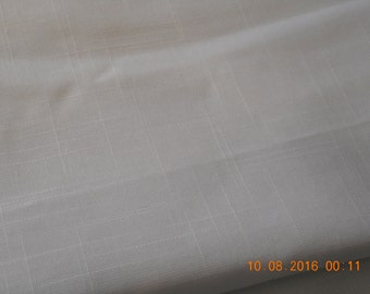 White  Linen  Look Fabric - 3 1/2 yards