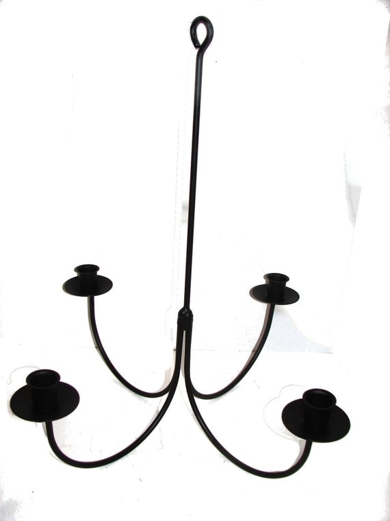 wrought iron 4 arm candle chandelier candolier diy wedding
