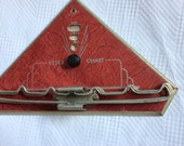 VINTAGE TIE HANGER, style chart, tie shirt suit colors, mid century, usa made, copyright 1937
