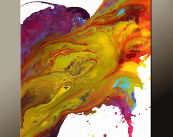 Abstract Canvas Art Painting 18x24 Canvas Contemporary Art Original Paintings by Destiny Womack - dWo - Energy Stream