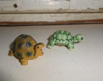 Vintage Turtle Figurines