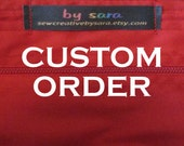 CUSTOM ORDER for Grant - Adjustable Sweatband / Headband - Black