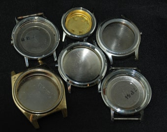 Vintage Antique Steampunk Watch Cases Altered Art Industrial  AR 78