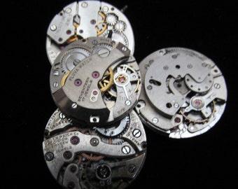 Steampunk Watch Movements Vintage Antique Small Round Watch Movements TM 55