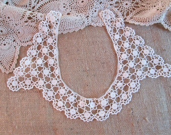 Antique Lace Collar Hand Crochet Crocheted Clothing Accessories