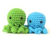 2 XS Octopus Amigurumi Stuffed Animals
