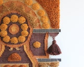r e s e r v e d Extra Large Orange & Yellow Original Don Freedman Fiber Textile Art Wall Hanging