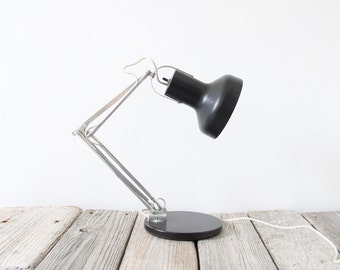 Midcentury Adjustable Tensor Style Black Desk Lamp