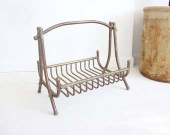 Solid Brass Large Magazine Rack