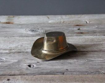 Brass Cowboy Hat Dish