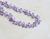 Lilac Cubic Zirconia CZ Faceted Oval Briolette Top drilled 5mm 26 beads