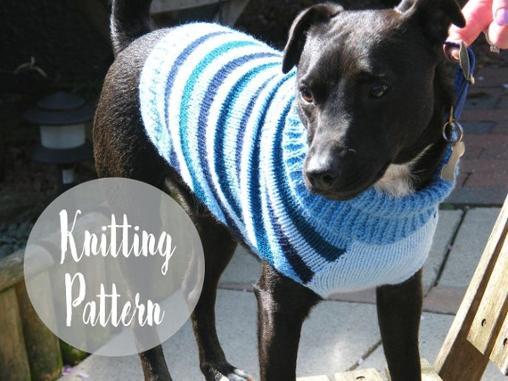 Knitting Pattern For A Jumper For A Dog : Dog sweater pattern knitting patterns dog by handylittleme on Etsy