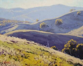 ORIGINAL LANDSCAPE Oil PAINTING Pastoral Fine Art Australia