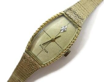 Ladies Bulova Watch - 10k Gold Plate, Analog, Mid Century 1968 - 1974