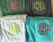 GB Sale group special comfort colors monogrammed pocket tank