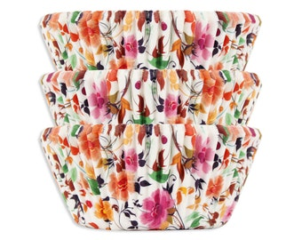 Wildflower Baking Cups - 50 boho floral cupcake liners