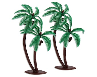 Palm Tree Toppers - 12 palm tree for topping cupcakes and cakes